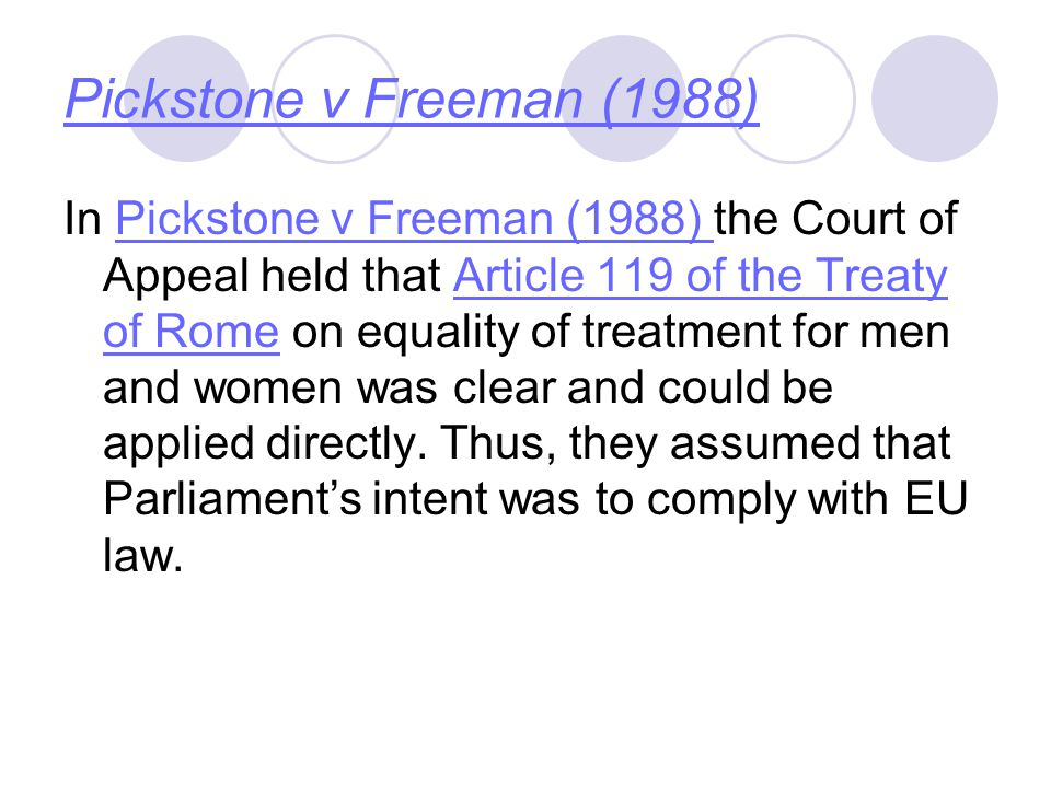 Pickstone v Freeman (1988)