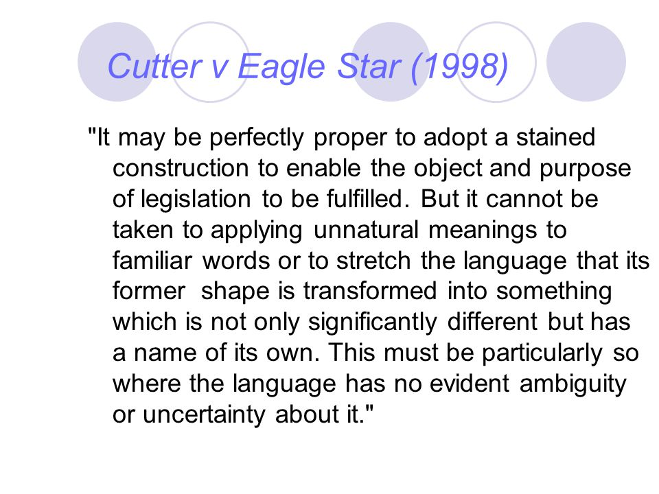 Cutter v Eagle Star (1998)