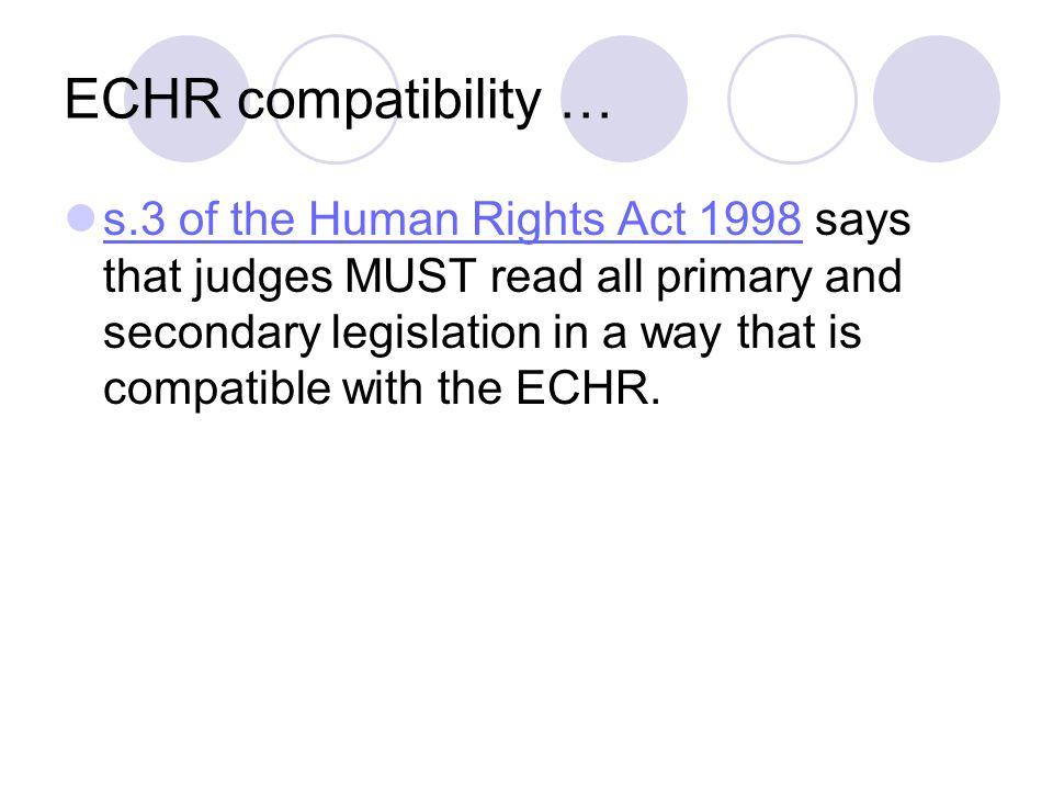 ECHR compatibility …
