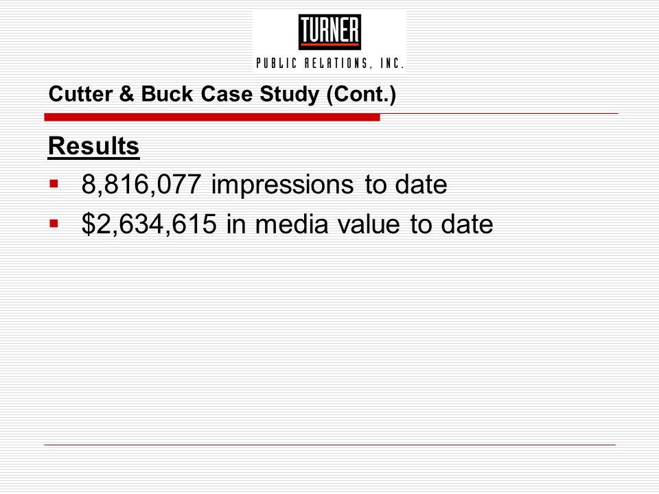 Cutter & Buck Case Study (Cont.)