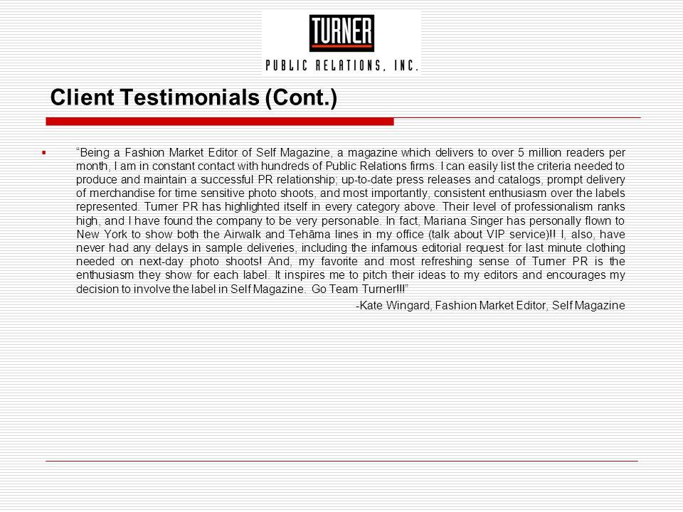 Client Testimonials (Cont.)
