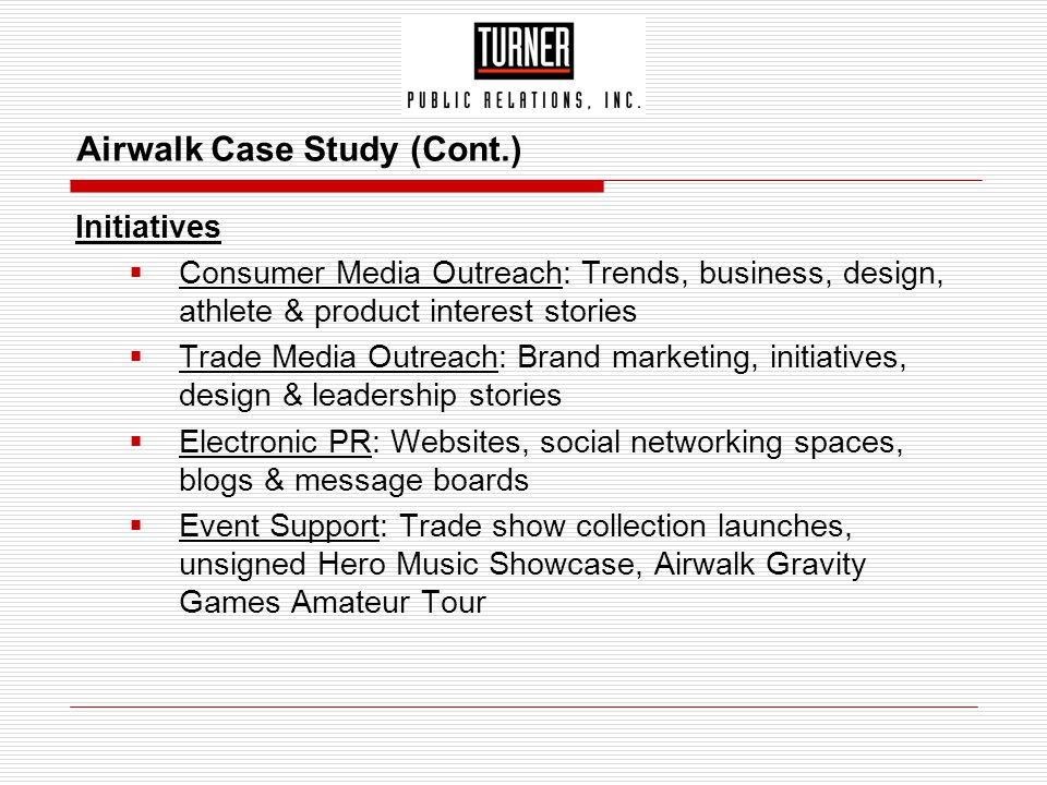 Airwalk Case Study (Cont.)