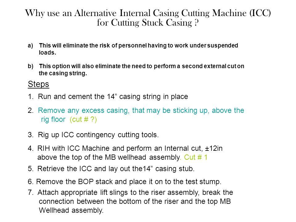 Why use an Alternative Internal Casing Cutting Machine (ICC) for Cutting Stuck Casing