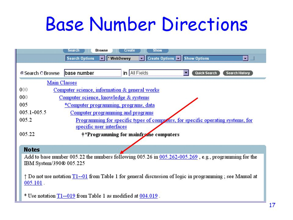 Base Number Directions
