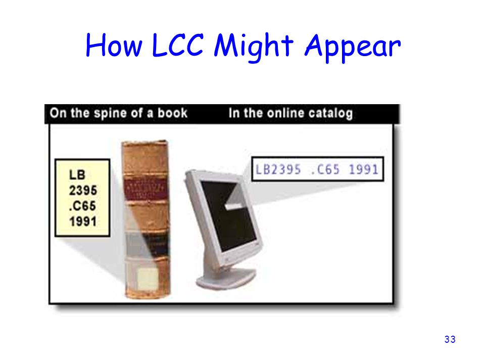 How LCC Might Appear