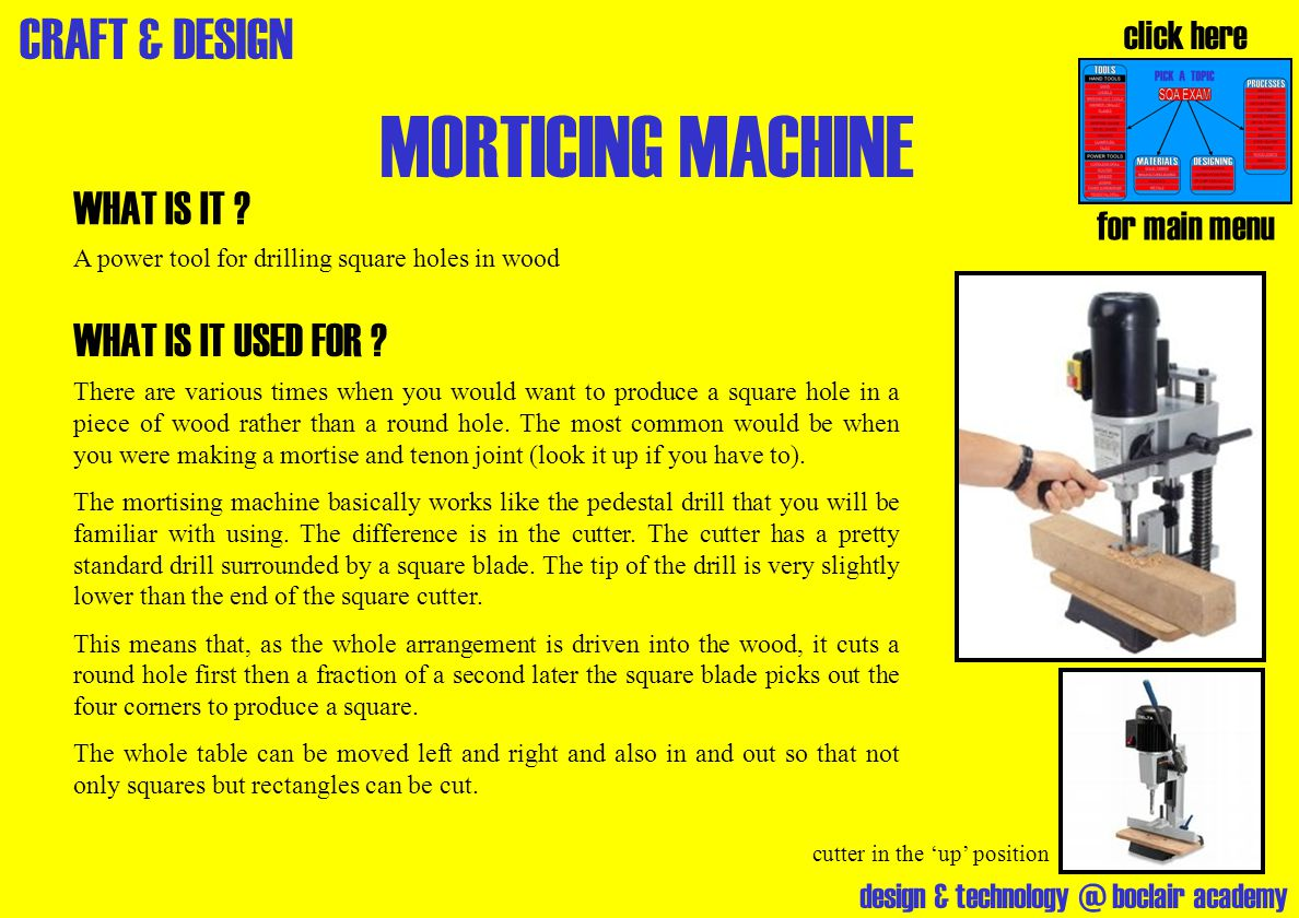 MORTICING MACHINE WHAT IS IT WHAT IS IT USED FOR click here