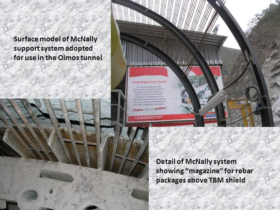 Surface model of McNally support system adopted for use in the Olmos tunnel