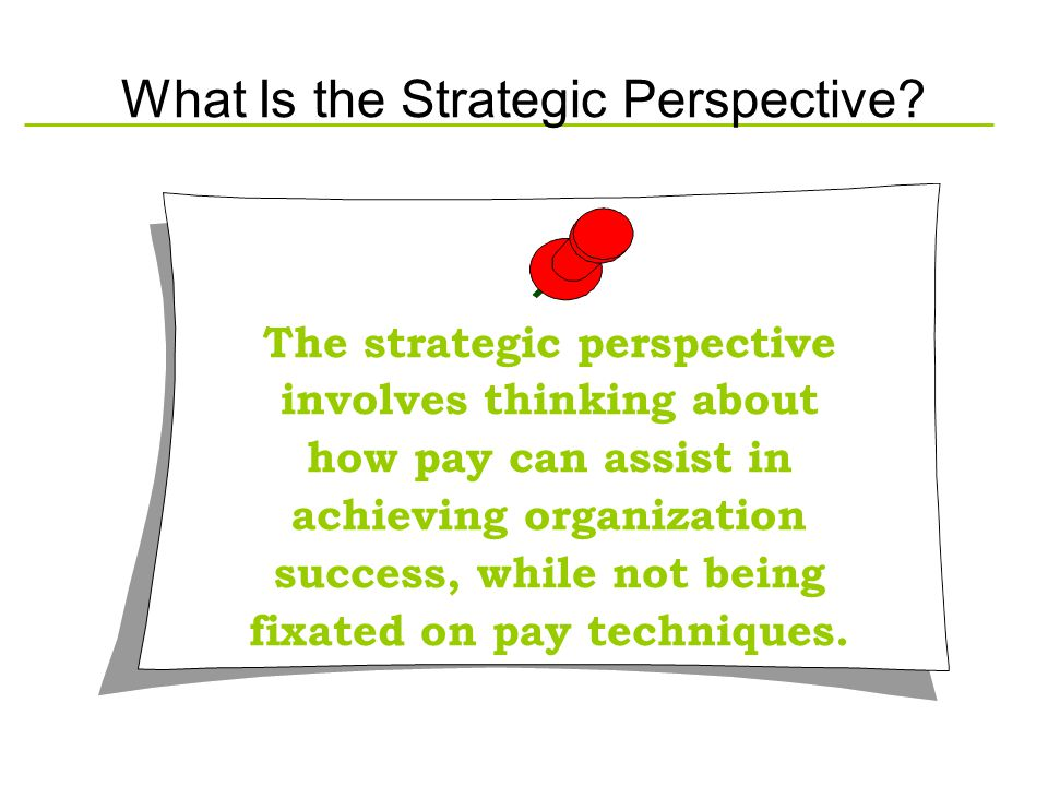 What Is the Strategic Perspective