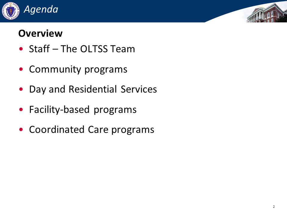 Day and Residential Services Facility-based programs