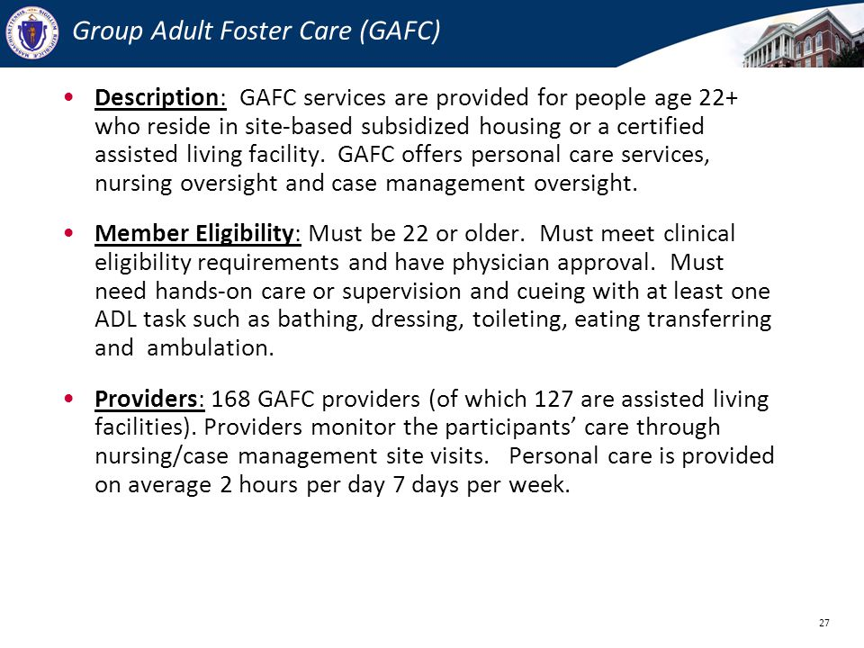 Group Adult Foster Care (GAFC)