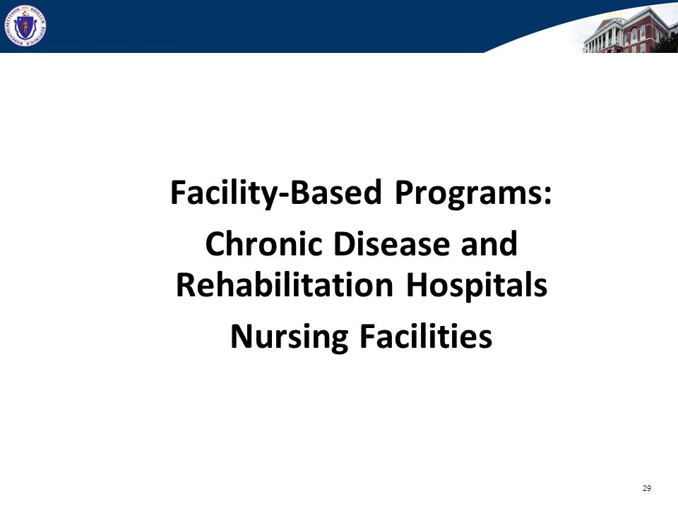 Facility-Based Programs: Chronic Disease and Rehabilitation Hospitals