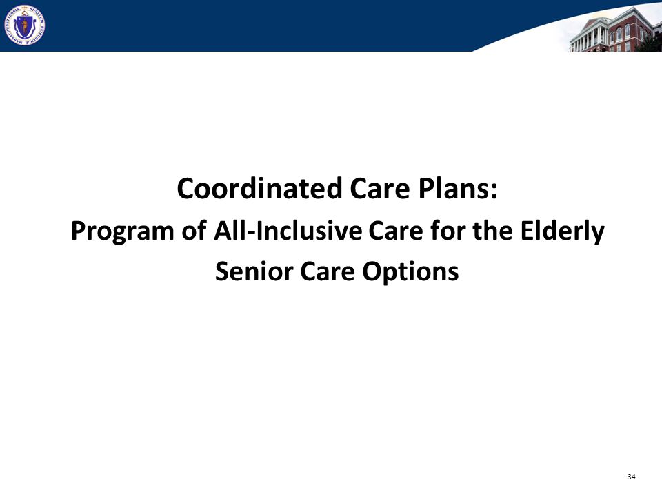 Coordinated Care Plans: Program of All-Inclusive Care for the Elderly