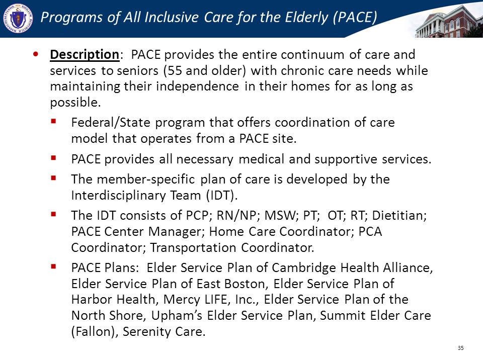 Programs of All Inclusive Care for the Elderly (PACE)