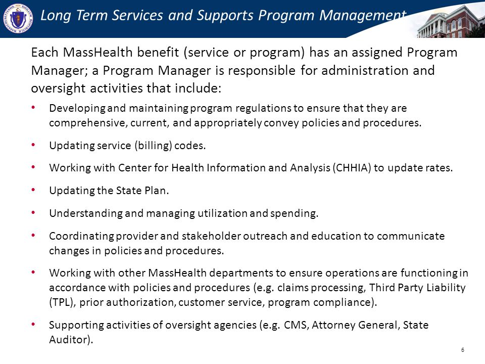 OLTC Program Manager Responsibilities