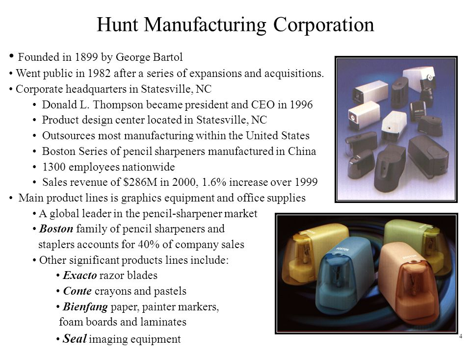 Hunt Manufacturing Corporation