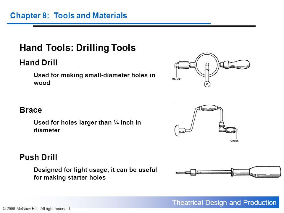 Hand Tools: Drilling Tools