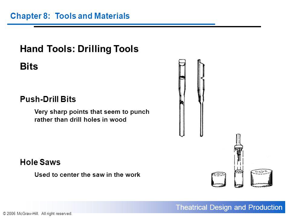 Hand Tools: Drilling Tools Bits
