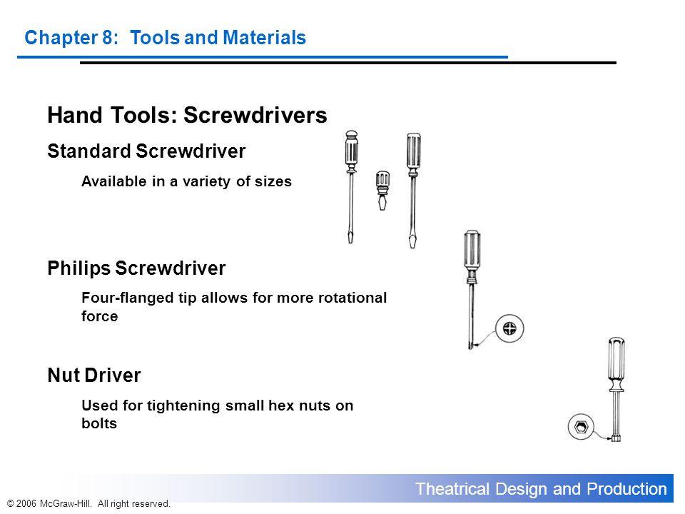 Hand Tools: Screwdrivers