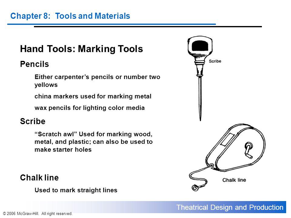 Hand Tools: Marking Tools