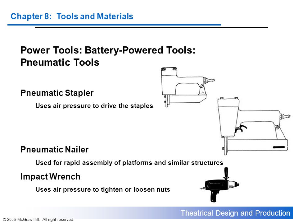 Power Tools: Battery-Powered Tools: Pneumatic Tools