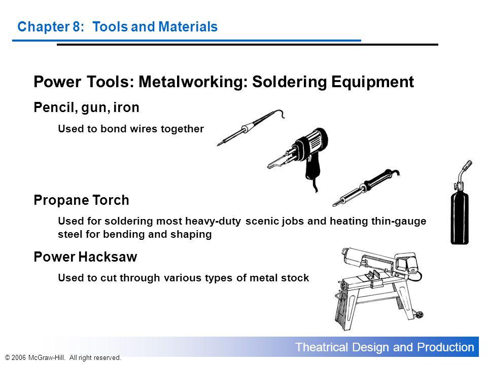 Power Tools: Metalworking: Soldering Equipment