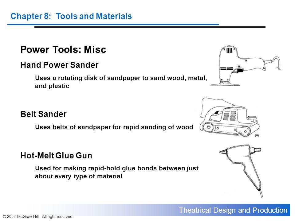 Power Tools: Misc Hand Power Sander Belt Sander Hot-Melt Glue Gun