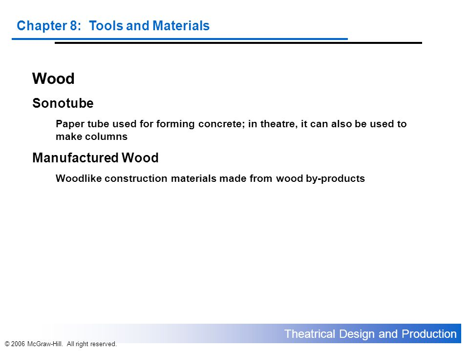 Wood Sonotube Manufactured Wood