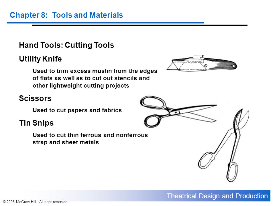 Hand Tools: Cutting Tools Utility Knife