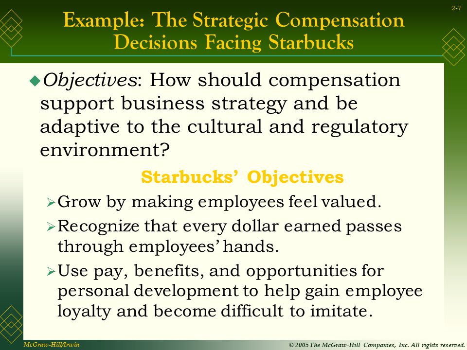 Example: The Strategic Compensation Decisions Facing Starbucks