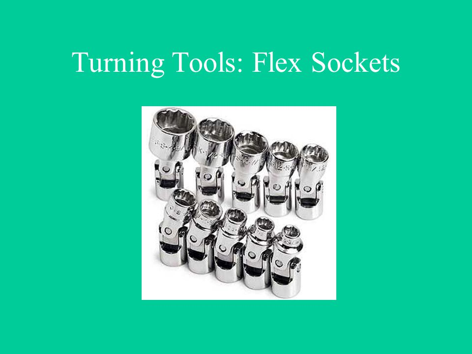 Turning Tools: Flex Sockets