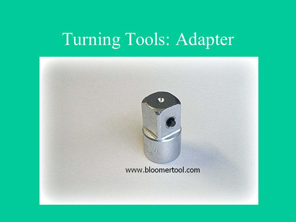 Turning Tools: Adapter