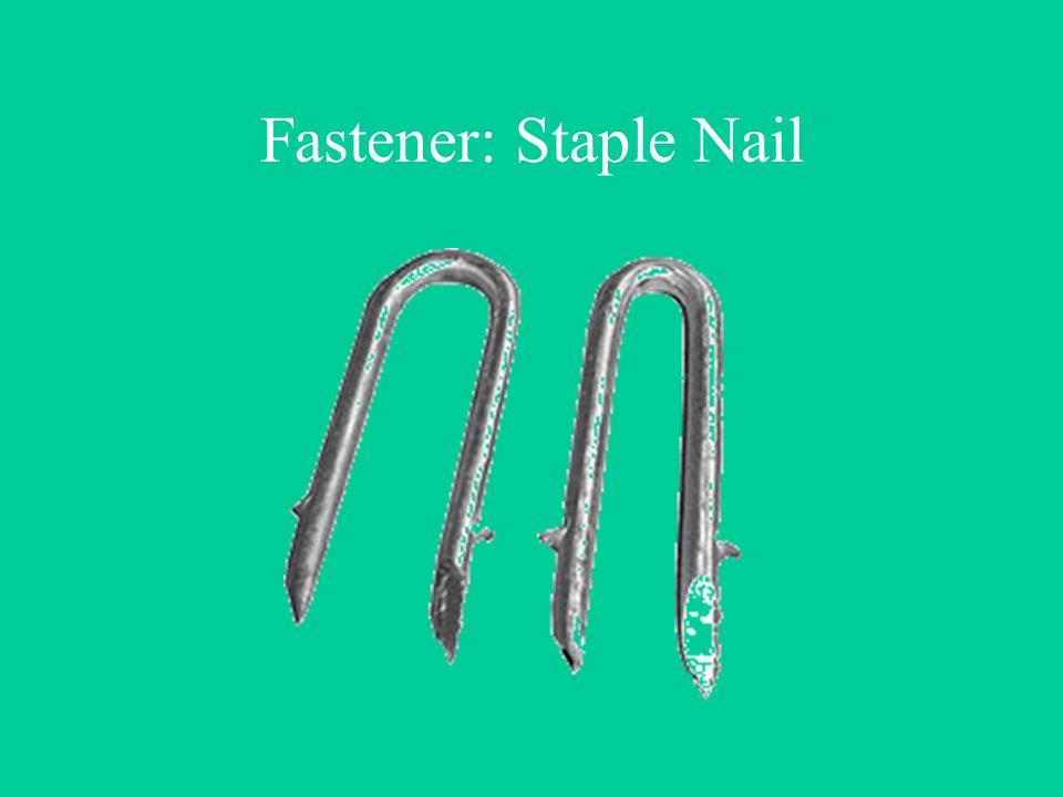 Fastener: Staple Nail