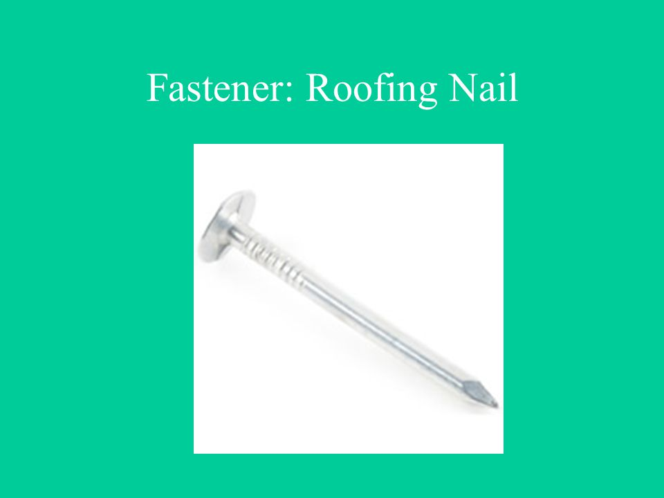 Fastener: Roofing Nail