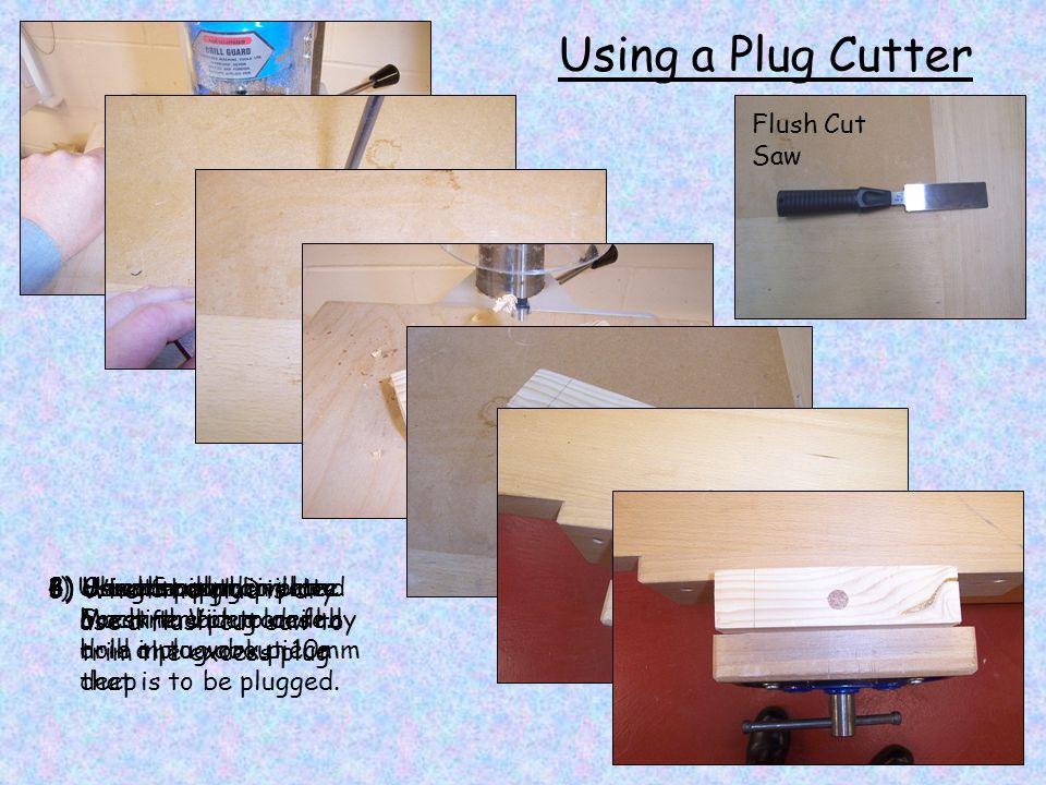 Using a Plug Cutter Flush Cut Saw