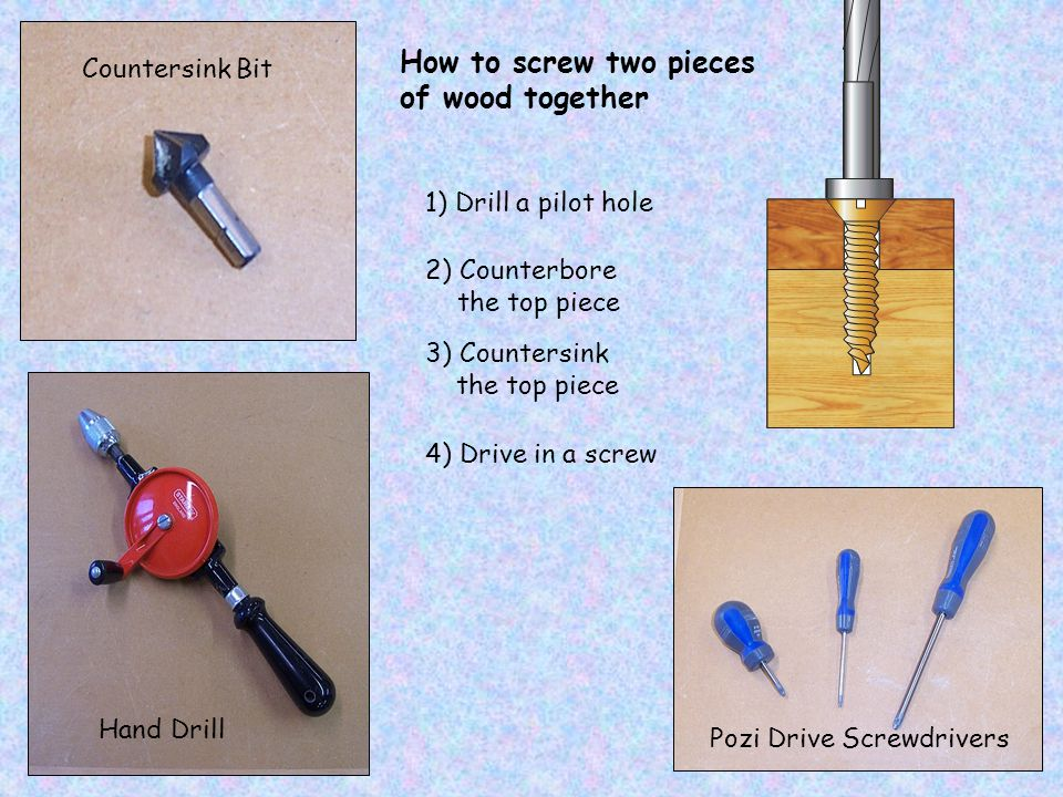 How to screw two pieces of wood together