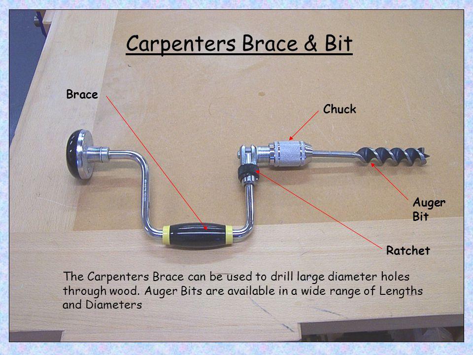 Carpenters Brace & Bit Brace Chuck Auger Bit Ratchet