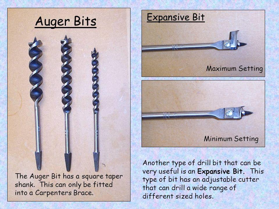 Auger Bits Expansive Bit Maximum Setting Minimum