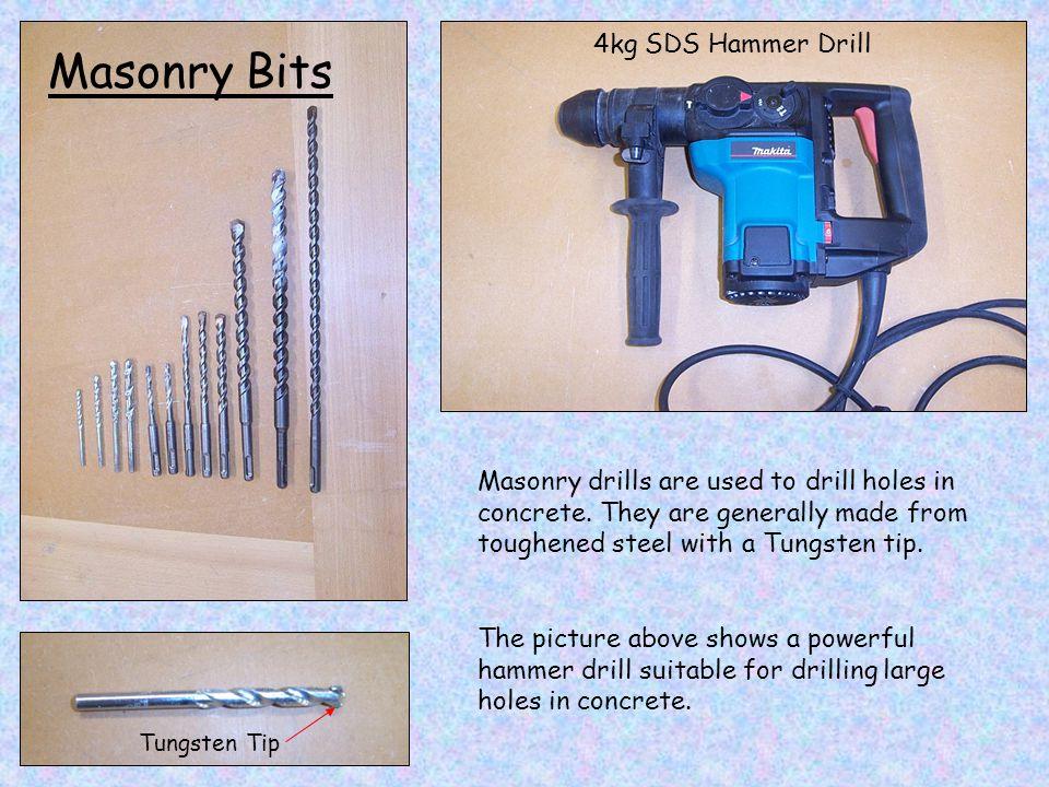 Masonry Bits 4kg SDS Hammer Drill