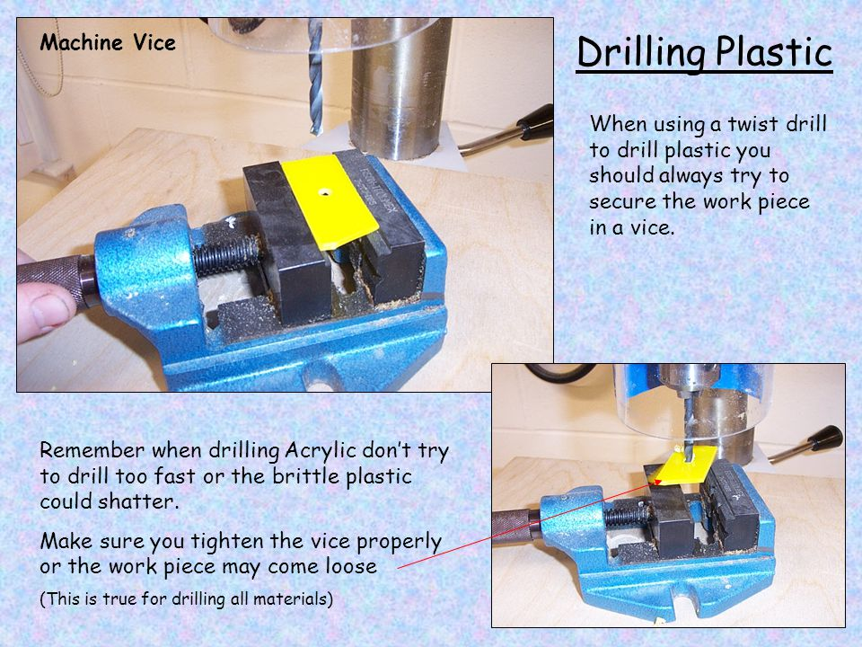 Drilling Plastic Machine Vice