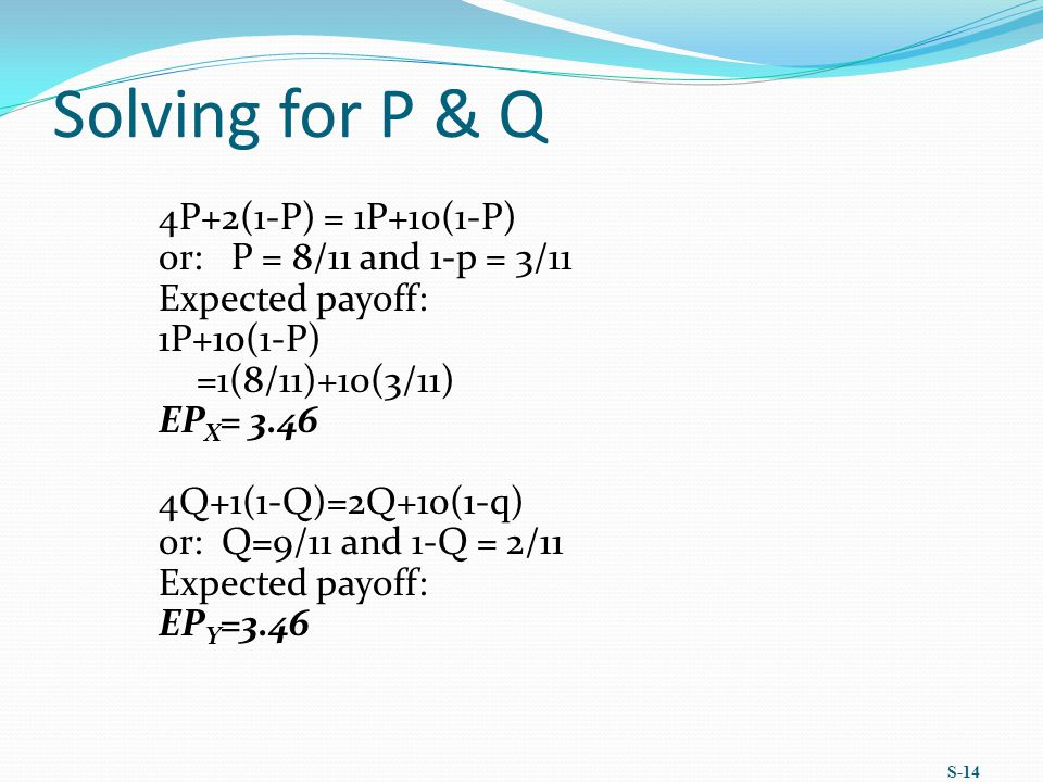 Solving for P & Q