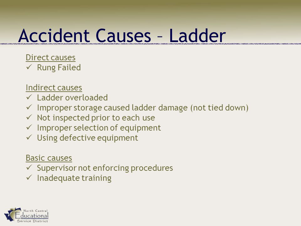 Accident Causes – Ladder