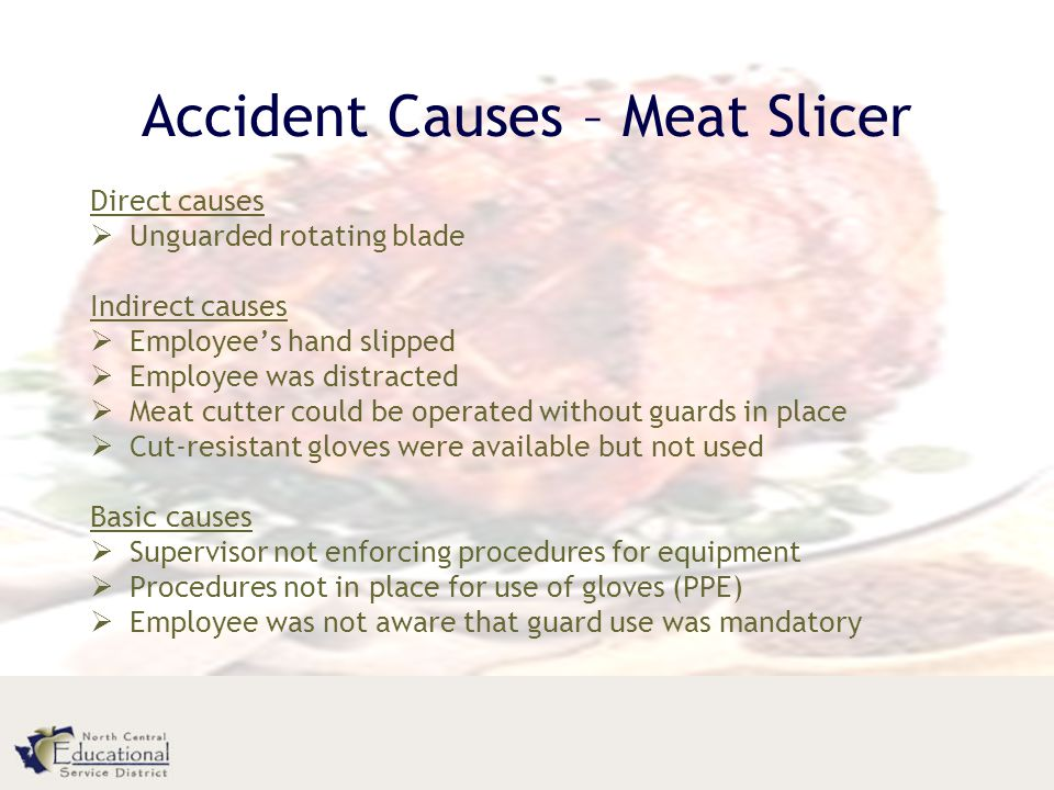 Accident Causes – Meat Slicer