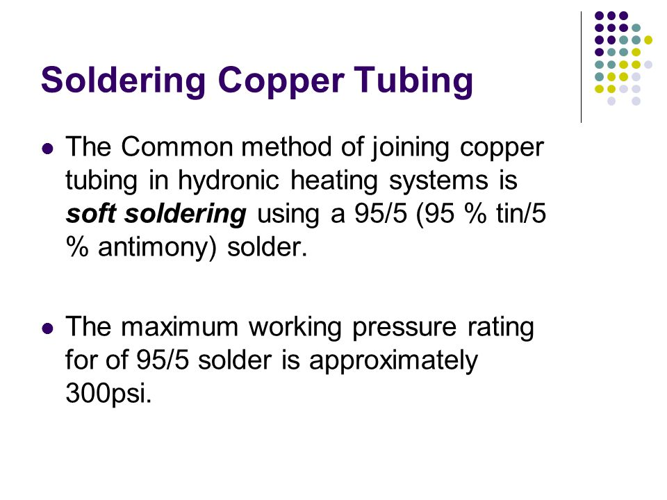 Soldering Copper Tubing