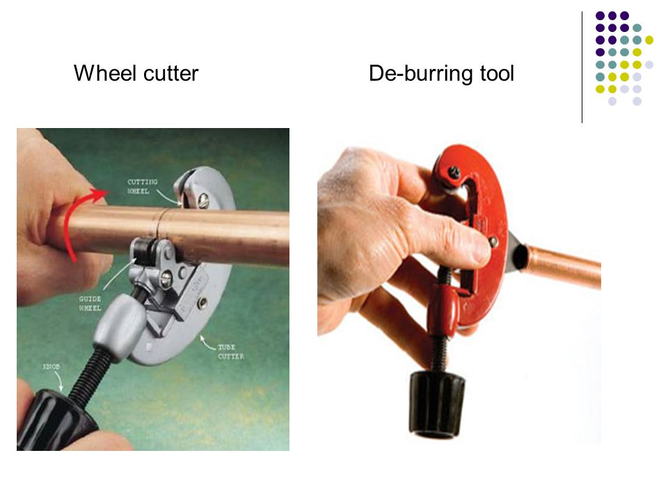 Wheel cutter De-burring tool
