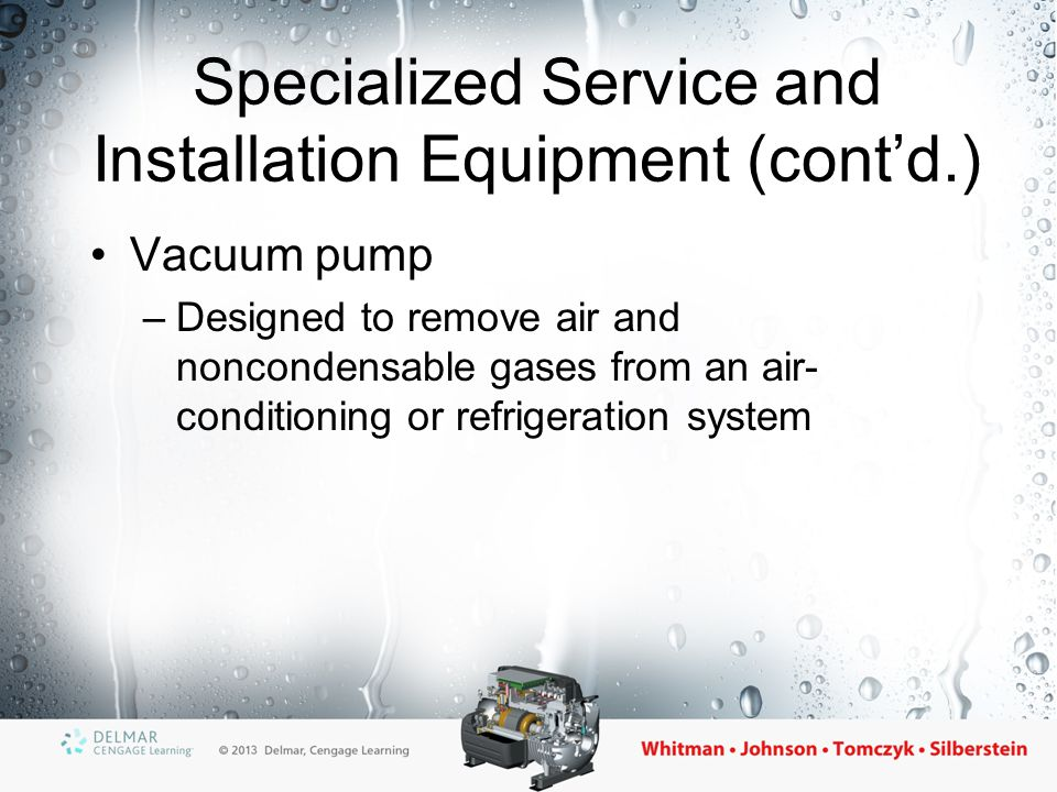 Specialized Service and Installation Equipment (cont'd.)