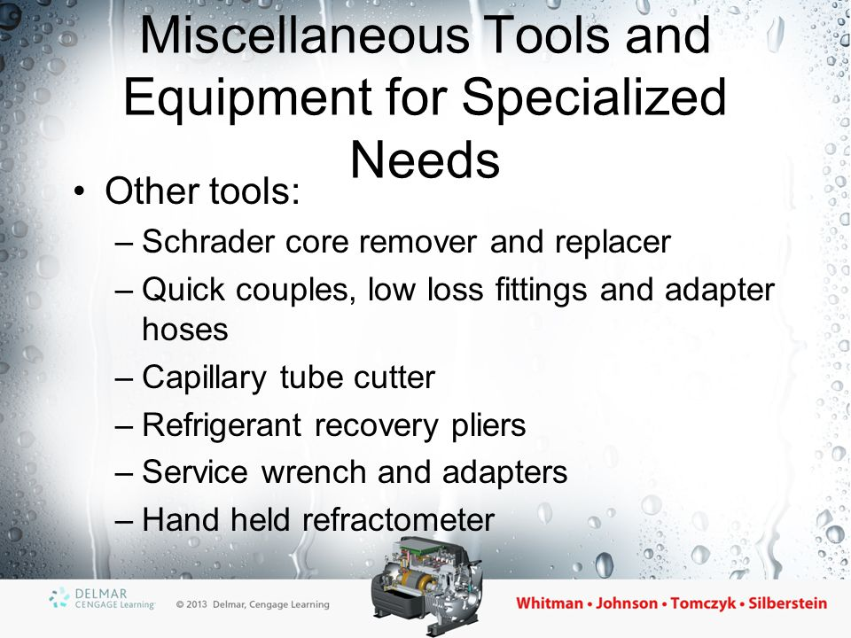Miscellaneous Tools and Equipment for Specialized Needs