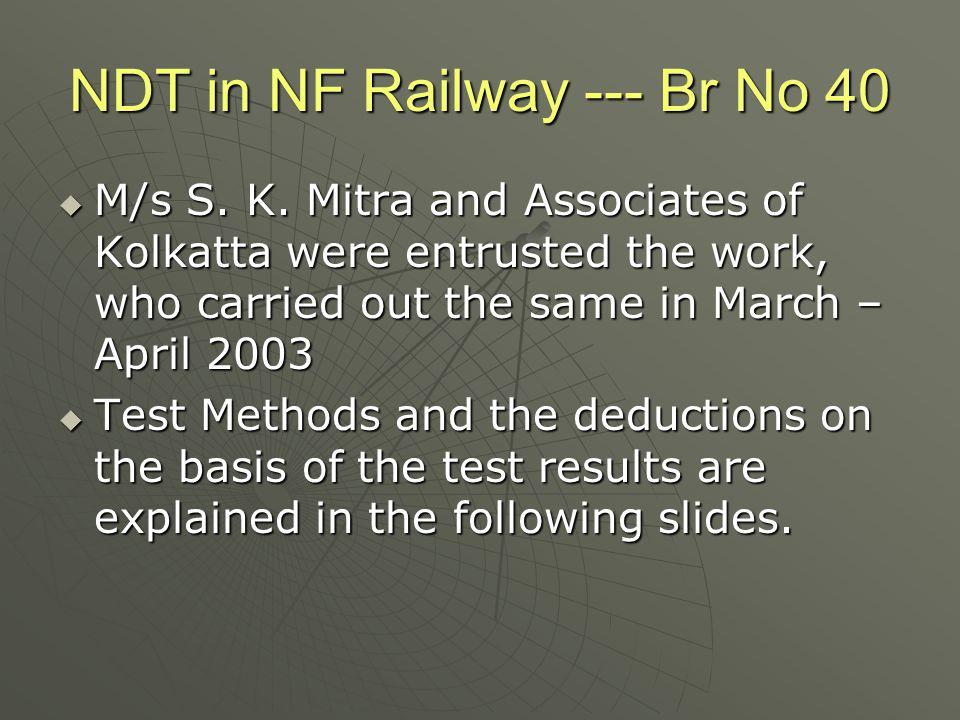 NDT in NF Railway --- Br No 40