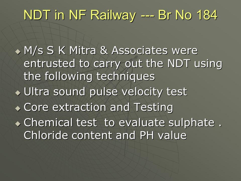 NDT in NF Railway --- Br No 184