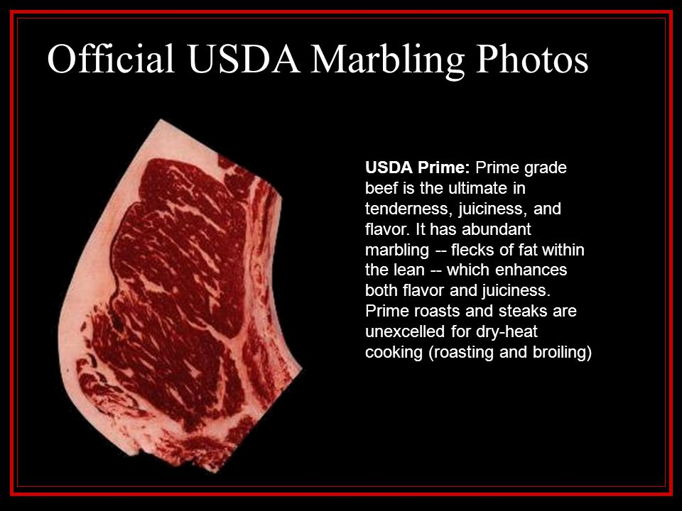 Official USDA Marbling Photos