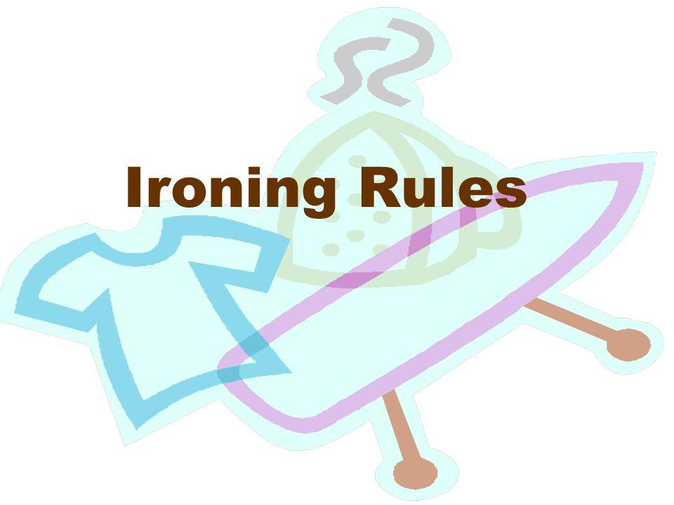 Ironing Rules